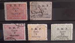 Syria, Syrie, Syrien, 1920 , Arab Kingdom St. Surcharged 0.M.F. Collection - Used Stamps