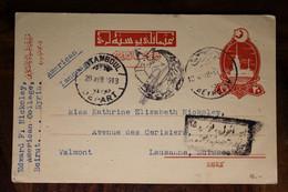 1918 CPA Ak Entier Beyrouth Beirut Syria Liban Turquie Türkei LEVANT Empire Ottoman Lebanon Suisse Switzerland Syrie - Lettres & Documents
