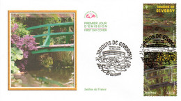 """(Faciale = 4.44 €)  """" JARDINS DE FRANCE : GIVERNY """" Sur Enveloppe 1er Jour De 2010. N° YT 4479 4480. Parfait état. FDC - Non Classés"""