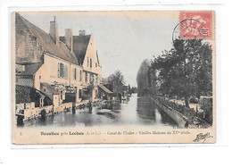 DEP. 37 BEAULIEU PRES LOCHES N°3 CANAL DE L'INDRE - VIEILLES MAISONS DU XVème SIECLE - Other Municipalities