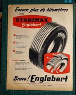 Ancienne Pub Pneu Englebert Stabimax,usines à Clairoix Lès Compiègne Oise,1957 - Publicités