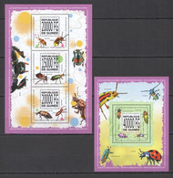 ST1384 2013 GUINEE GUINEA FLORA & FAUNA INSECTS BUGS COLEOPTERES DU MONDE KB+BL MNH - Altri