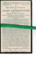 Hendrik Van Moorlegem Wed Eugenia Van Poucque O Elsegem 1847 + Ooike 1925 - Images Religieuses