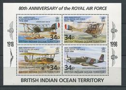 295 - OCEAN INDIEN 1998 - Yvert BF 11 - Avion Royal Air Force - Neuf **(MNH) Sans Charniere - British Indian Ocean Territory (BIOT)