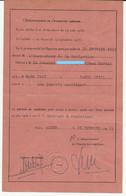 VIEUX PAPIERS PERMIS DE CONDUIRE NAVIRES à MOTEUR MARINE ARCHANDE ALGER 1953 - Non Classés