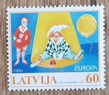 Lettonie - YT N°538 - EUROPA / Le Cirque - 2002 - Neuf - Letonia
