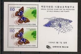 South Korea - 1999 - Bloc Feuillet BF N°Yv. 456 - Papillons / Butterflies - Neuf Luxe ** / MNH / Postfrisch - Butterflies