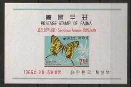 South Korea - 1966 - Bloc Feuillet BF N°Yv. 115 - Papillons / Butterflies - Neuf Luxe ** / MNH / Postfrisch - Butterflies