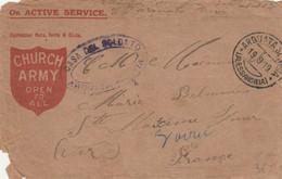 LETTRE FM CHURCH ARMY CASA DEL SOLDATO - ARQUATA SCRIVIA ALLESSANDRIA 19/9/1919 POUR FRANCE ST MAXIME - Zonder Classificatie