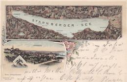 STARNBERG - BAYERN - DEUTSCHLAND - LITHO-ANSICHTKARTE 1901... - Starnberg