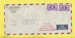 Lettre Censuré CAMBODGE + KHMÈRE  De Phnom-Penh Par Avion Pour Paris Le 15 03 72 Journée Mondiale Des Télécommunications - Kambodscha