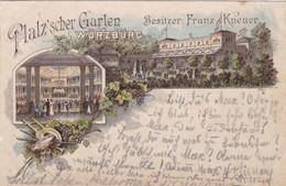WÜRZBURG - BAYERN - DEUTSCHLAND - LITHO-ANSICHTKARTE 1897... - Wuerzburg