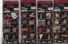 ECUADOR, 2019, MNH,ETHNIC & HISTORIC MUSEUM OF ECUADOR, ARTEFACTS, MASKS, STATUES, SNAKES, STATUETTES, 5 BOOKLETS - Musées