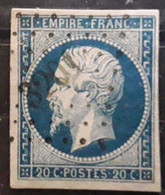 Empire No 14 A Obl Pc 3201 De ST SAINT MARTORY, Haute Garonne,  Indice 6, Belle Frappe TB - 1853-1860 Napoleon III
