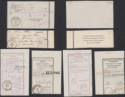 """Document De La Poste - Lot De 2 Récepissé De Chargement + 5 Déclarations De Versement Obl DC """"Gedinne"""" (1869-79) - Postdocumenten"""