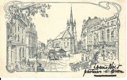 VAUD LAUSANNE Place St-François - Imprimerie G. Vaney-Burnier - Circulé Le 08.02.1907 Vers Romainmotier - Pasteur à Oron - VD Vaud