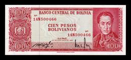 Bolivia 100 Pesos Bolivianos 1962 Pick 164a Sign 2 SC UNC - Bolivia