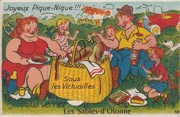 85 LES SABLES D OLONNE ( ..JOYEUX PIQUE NIQUE  Sous Les Victuailles Vous Verrez ..  ).. - Met Mechanische Systemen