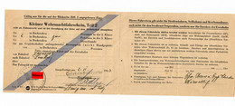GG Ostbahn: 1943 Kleiner Wehrmachtsfahrschein Tarnopol - Lemberg - Occupation 1938-45