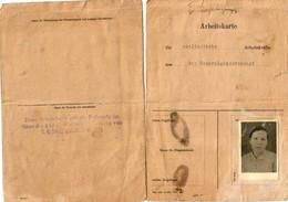GG: Ostbahn: Arbeitskarte Für Ausl. Arbeitskräfte/Ukrainerin Sambor/Lomna - Occupation 1938-45