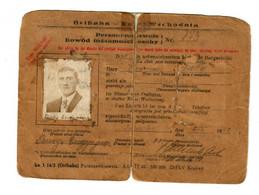 GG Ostbahn: Personenausweis Tarnopol 1942 - Occupation 1938-45