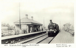 GB Superb Repro Pc From BIRMINGHAM, Brighton Road Station Ca. 1920 - Stations With Trains