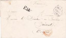 Lettre Ancien Lieutenant De L'Armée De Belfort Bâle 20 Octobre 1871 En Port Payé Pr Le Directeur Des Douanes à Epinal - War 1870