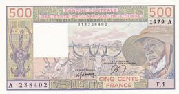 Billet Neuf De  500 Francs - Etats D'afrique De L'ouest - Cote D'ivoire 1979 A - T 1-  238402 - - Côte D'Ivoire