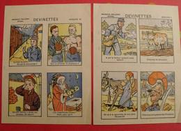 Publicité Chaussures Leblanc. Rouen Lisieux Trouville. 8 Devinettes à Chercher En Image. Vers 1950. - Advertising