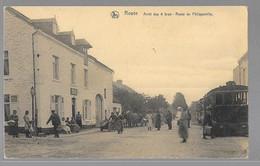 Rosée ( Florennes ) Tram à Vapeur à L'arrêt Des 4 Bras, Route De Philippeville - Stoomtram  JE VENDS MA COLLECTION PRIX - Ohne Zuordnung