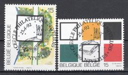 BELGIE: COB 2452/2453  Met Eerste Dag Afstempeling. - Usados