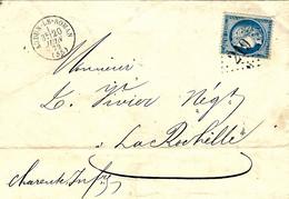 1872- Lettre D'AUDUN-LE-ROMAN ( Moselle. ) Cad T16 Affr. N°60 Oblit G C 219 - 1849-1876: Klassik