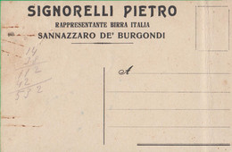 SANNAZZARO DE' BURGONDI. Pavia. BIRRA ITALIA. 192k - Reclame