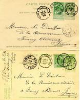 1899/1904 2 Postkaarten St Nicolas Naar FUMAY Ardennes France -  Zie Convoyeur Stempel + Ak Stempel - See Cancellations - Cartoline [1871-09]