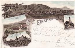 EBERSTADT - DARMSTADT - HESSEN - DEUTSCHLAND - LITHO-ANSICHTKARTE - 1897. - Darmstadt