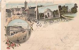 DARMSTADT - HESSEN - DEUTSCHLAND - LITHO-ANSICHTKARTE - 1897. - Darmstadt