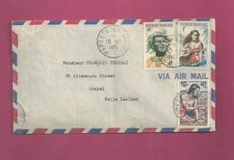 Lettre De 1960 Pour La Nouvelle-Zélande. YT N° 3, 5 Et 9 - Storia Postale