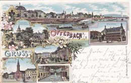 OFFENBACH A MAIN - HESSEN - DEUTSCHLAND - LITHO-ANSICHTKARTE - 1899. - Offenbach