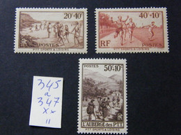 345 A 347  Neuf ** - Unused Stamps
