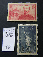 352 A 353  Neuf ** - Unused Stamps