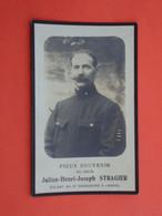 Oorlogsslachtoffer Julien Stragier Né à Dranoutre 1879  Décédé à L'Hopital De Bruges 1919    (2scans) - Religion & Esotericism
