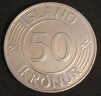 ISLANDE - ICELAND - 50 KRONUR 1978 - KM 19 - ISLAND - Parlement Islandais à Reykjavík - ( Krona ) - Iceland