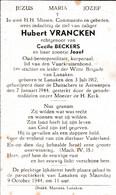 Oorlog- 1940 1945 - VRANCKEN Hubert ° Lanaken 1912 - + Gefusiljeerd Te Antwerpen 1944 - Godsdienst & Esoterisme