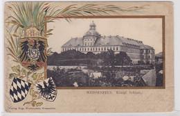 75278 Präge AK Weissenfels - Königliches Schloss Totalansicht Mit Wappen 1902 - Non Classificati