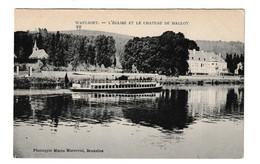 Waulsort L' Eglise Et Le Chateau De Halloy Hastière Namur Belgique - Hastière
