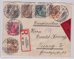 03672 Seltener Express Einschreiben Brief Leipzig Volksmarsdorf 3.8.1916 - Sin Clasificación