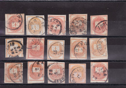 Hungary - Newspaper Stamps - Y&T 3 4 4A 4B X 15 - Cancelled - Used Stamps