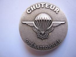 PARACHUTISTES INSIGNE DU 100° STAGE DE CHUTEURS OPS CRAP (NUMEROTE 07) DOS GRAVE ETAT EXCELLENT - Armée De Terre