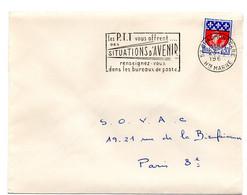 MARNE / HAUTE Dépt N° 52 = CHAUMONT GARE 1968 =  FLAMME Codée = SECAP ' Les PTT Vous Offrent SITUATIONS ... - Mechanical Postmarks (Advertisement)