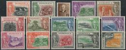 Dominica 1951. Mi.#118/32 MNH/Luxe. Georg VI. Im Medaillon. Views (Ts57) - Familias Reales